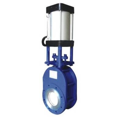 Z673H ultra-thin pneumatic double gates disc discharge valve