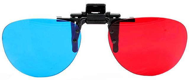 DOMO nHance RB40P Anaglyph Passive Red and Blue 3D Glasses
