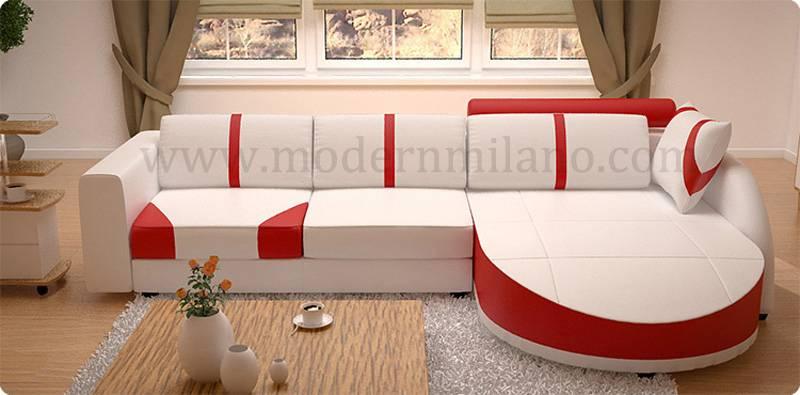 Modern leather sofas for living room