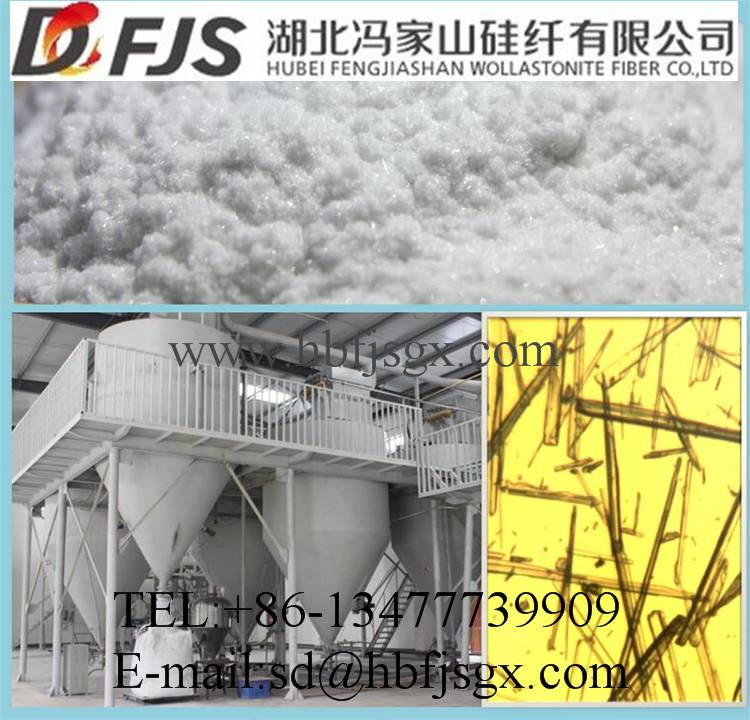 wholesale construction used fireproofing raw material wollastonite powder