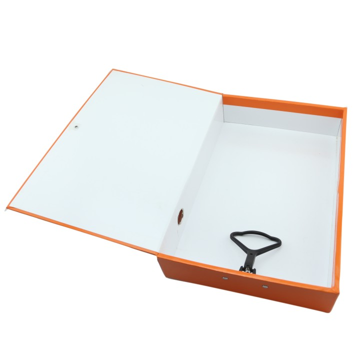 paper case box file with metal clip 10021