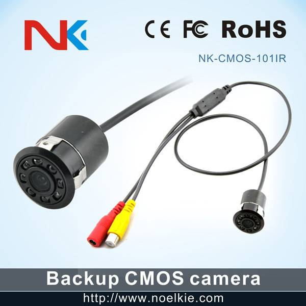 Night vision waterproof 12V reverse car camera with 8 led lights