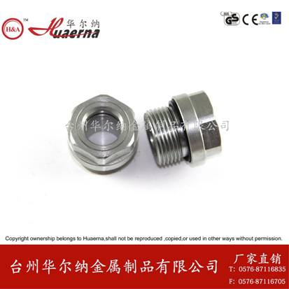 oil sight glass steel oil level indicator