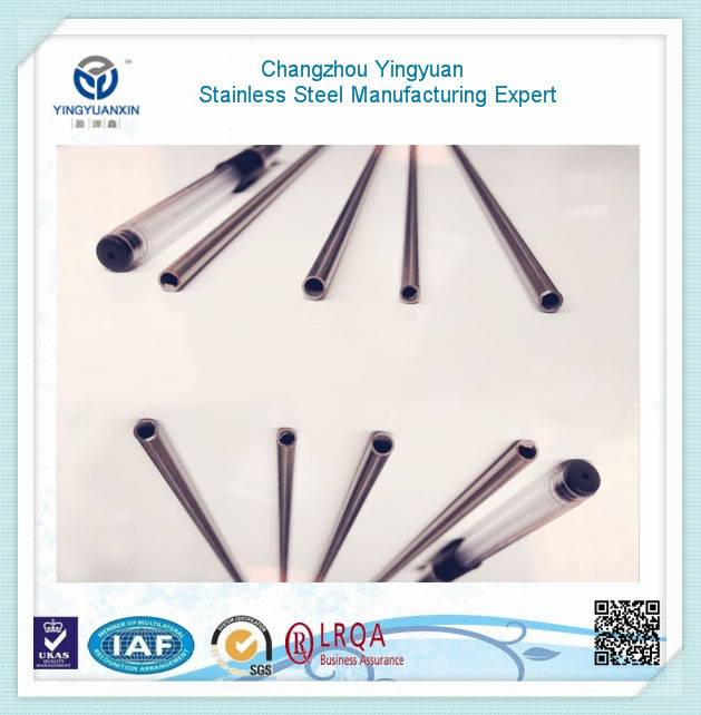 Smooth and bright surface SS steel pipe with cap