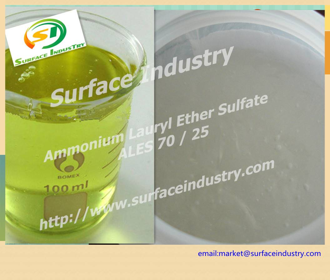 Mild Surfactant Ammonium Lauryl Ether Sulfate,ALES 70 / 25