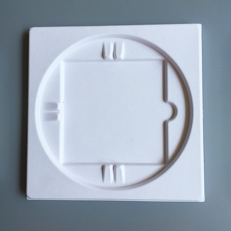 Recycled white round molded packaging electronic pulp tray