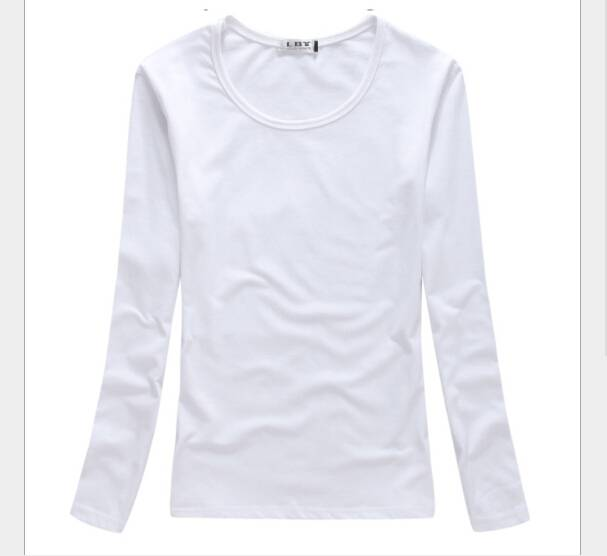 autumn and winter season female classic long-sleeved cotton long sleeve T-shirt
