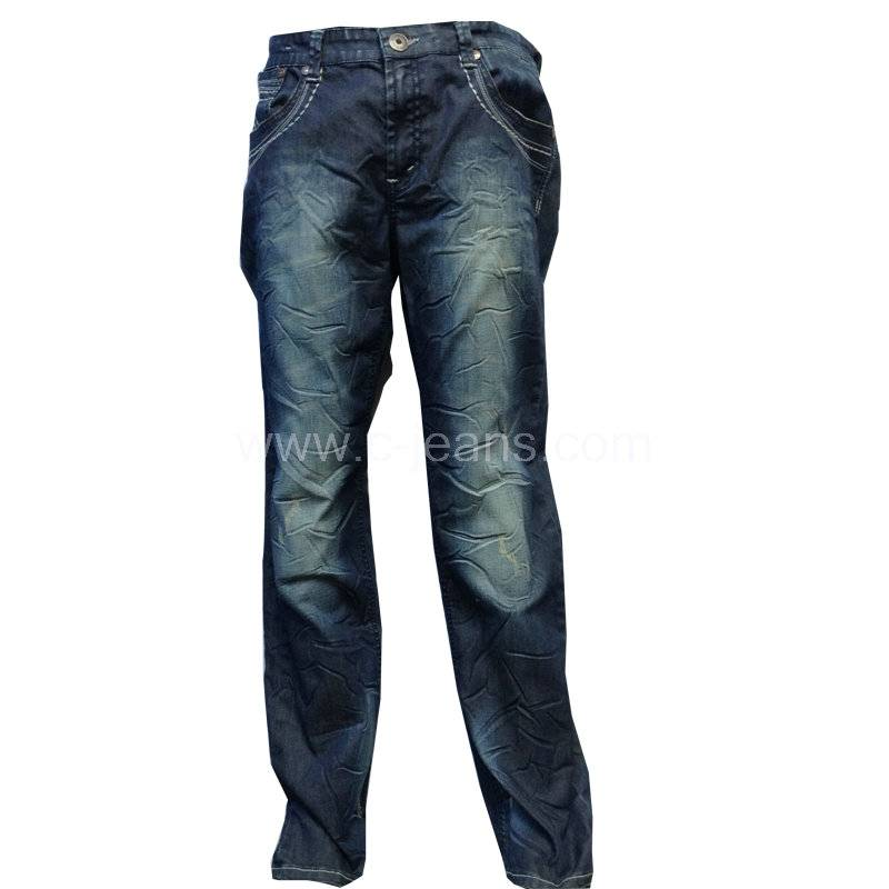 2014 new style popular top quality blue straight man denim jean