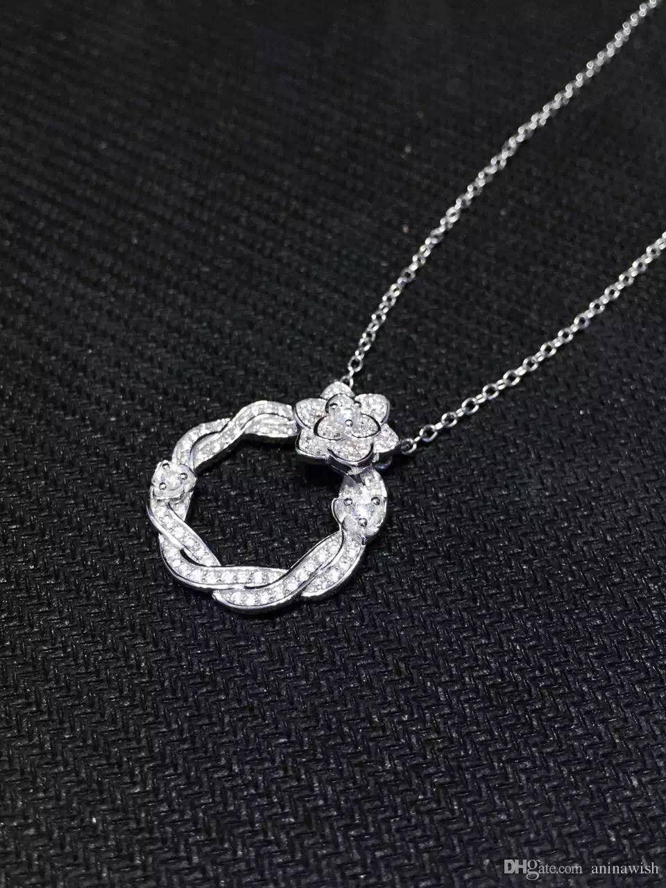 NEFFLY New Arrivals 925 Sterling Silver Necklaces For Women 2015 New Design.