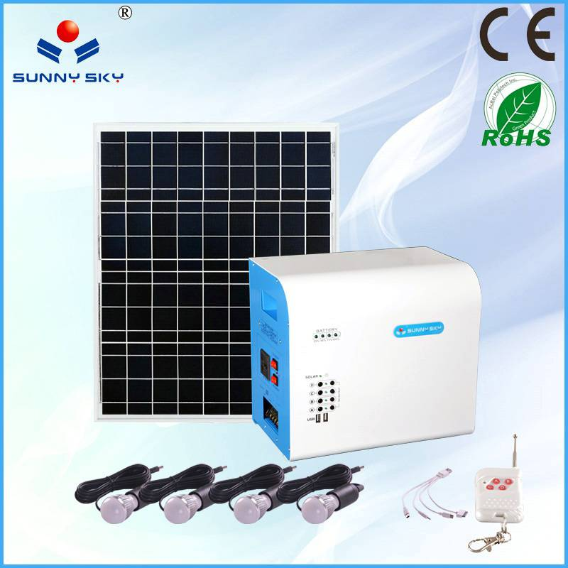 80W solar power system with mppt solar controller inverter