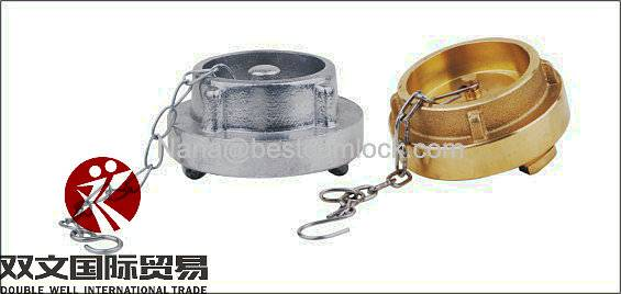 Aluminum forged storz coupling blank cap with chain