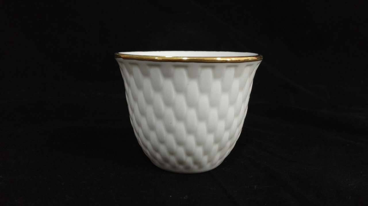 Ceramic new bone china cawa cup arabic cup and saucer