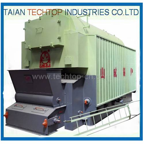 Single Drum Horizontal Chain Grate Soft Coal Hot-Water Boiler