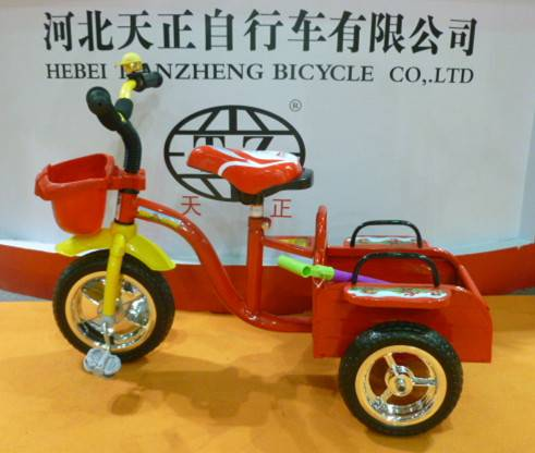 Chinese manufacture two seat kids tricycle