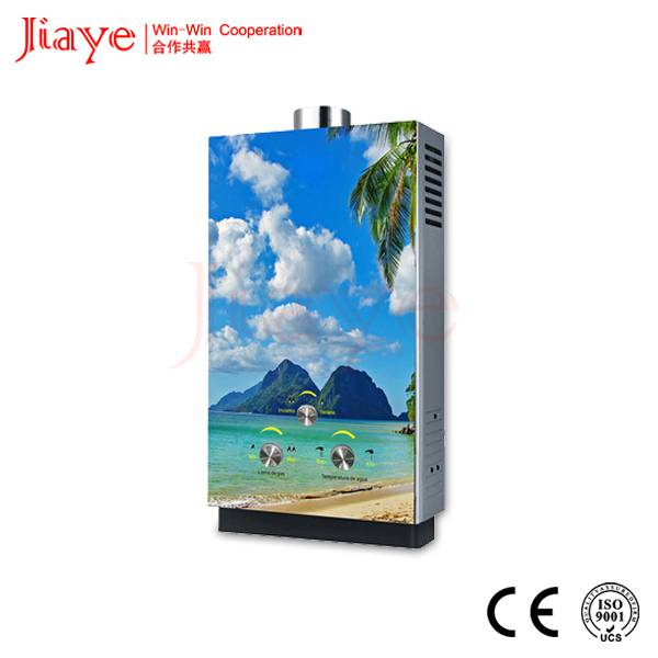 Glass panel gas water heater, gas water heater spare parts, gas geyser JY-GGW001