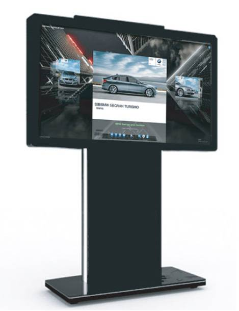 Floof standing transverse screen advertising display
