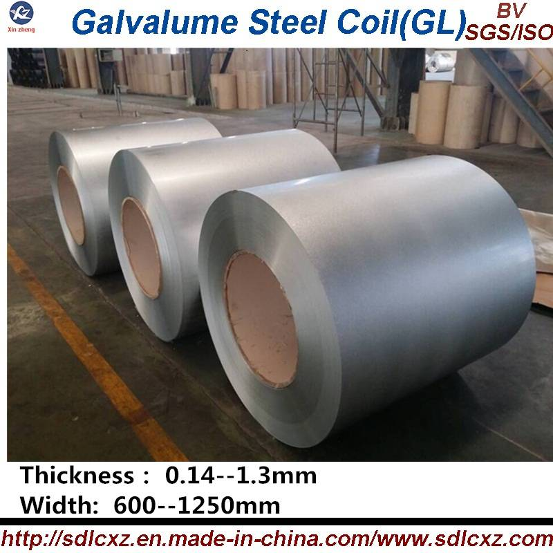 Galvalume Steel Coil / GL ( 0.14--1.3MM)