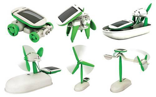 6 in 1 Educational Solar Kit, solar toy kit, solar diy toy