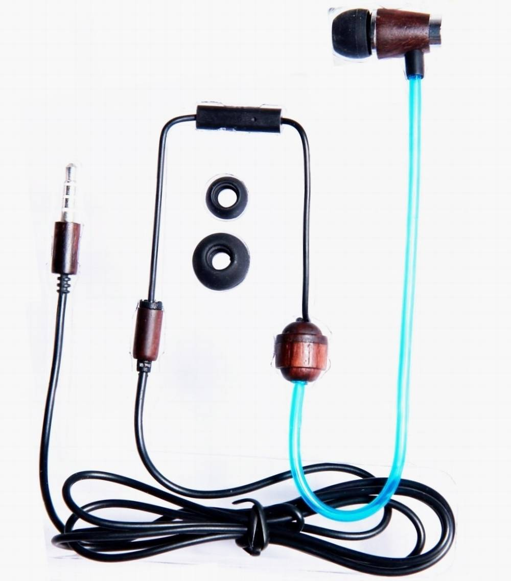 Virtuous air tube headsets heavy bass mono in ear headphones