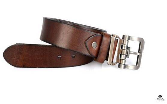 Men Real Leather Pin Buckle Belt