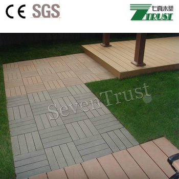 WPC DIY board decking tile wood plastic composite(WPC) decking/flooring tile engineered