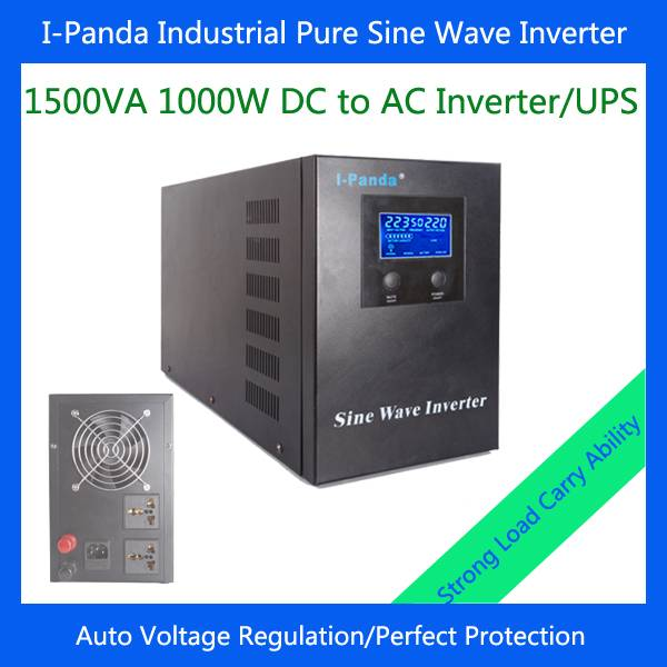 New I-P-XD-1500VA 1000W pure sine wave inverter generator for 1kw solar power system AVR UPS