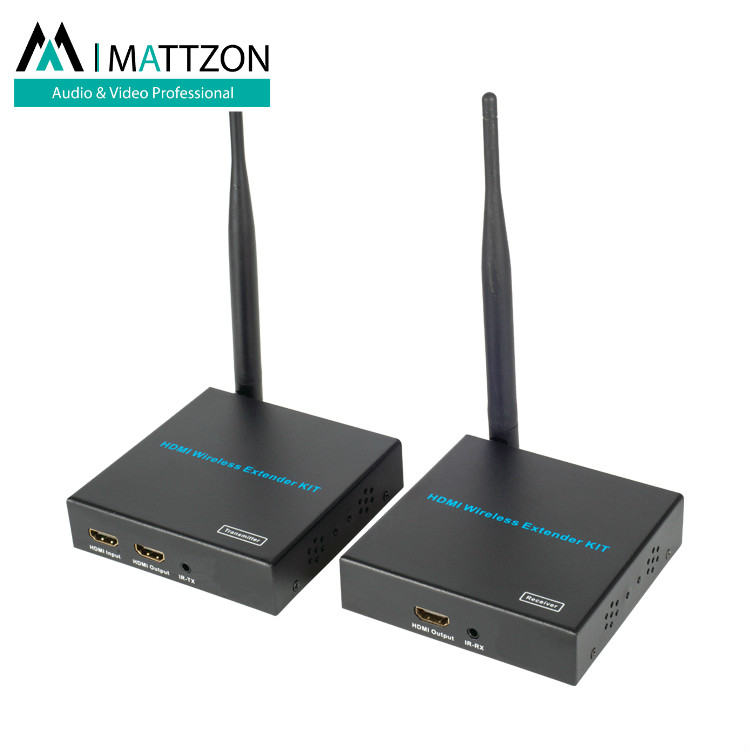 Mattzon 100m HDMI H.264 Wireless Extender wifi extender repeater