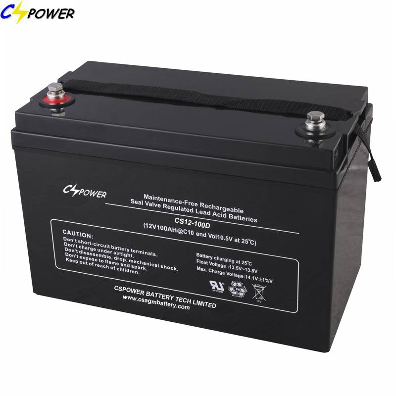 Deep Cycle AGM battery 12V100Ah for solar power system
