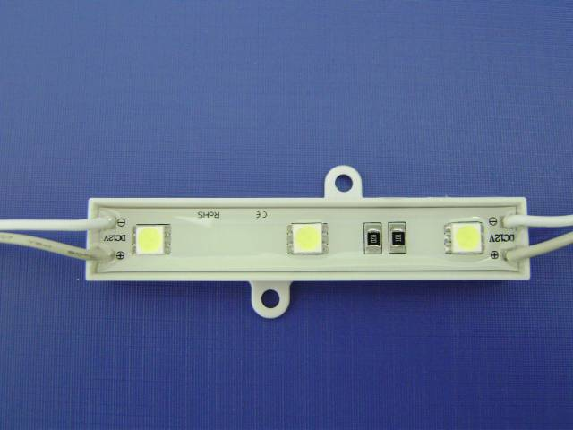 waterproof single white color 3leds 3528 waterproof led modules lens