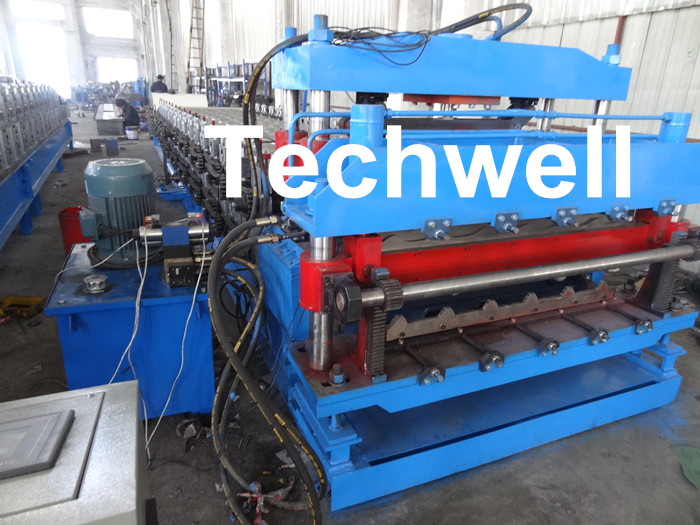 18 Forming Stations Roof Panel Roll Forming Machine , Double Sheet Roll Forming Machine
