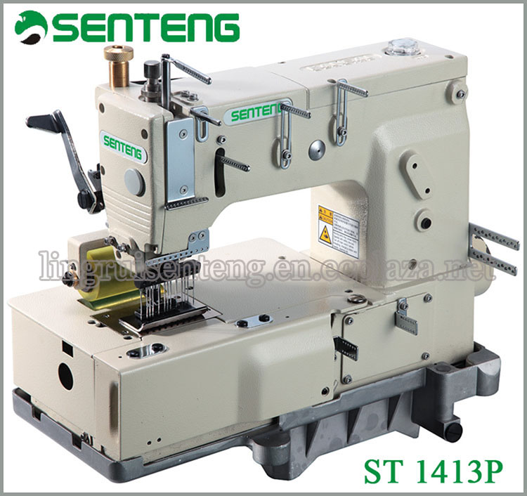 ST 1413P13-needle Flat-bed Double Chain Stitch Global Sewing Machine
