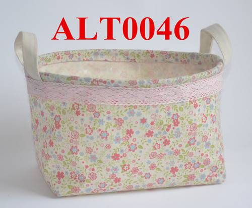 Oval shaped cotton fabric bag