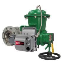 Flanged Fisher V-300 ball valve
