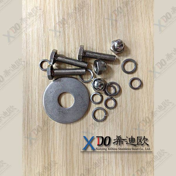 China hardware din standard stainless steel hex bolt and nut duplex S32760(F55/1.4501)