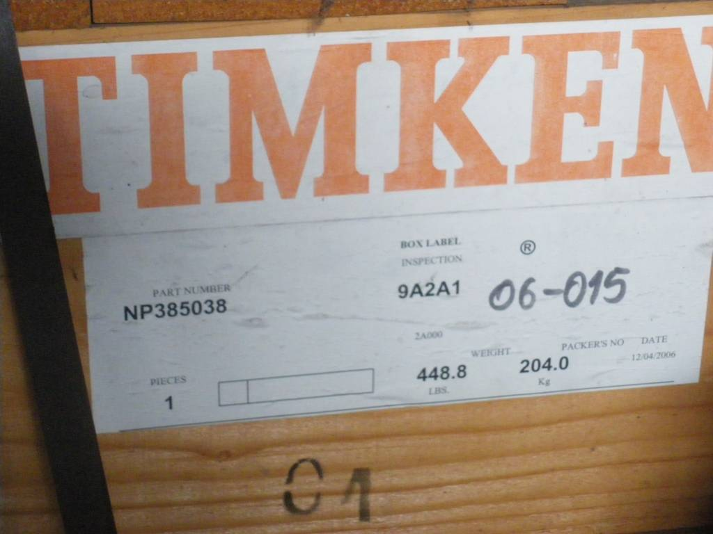 TIMKEN NP385038-9A2A1 Taper Roller Bearing Four Row for Rolling Mill Neck
