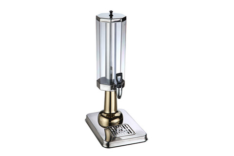 Small Juice Dispenser, Made of Stainless Steel and Polycarbonate