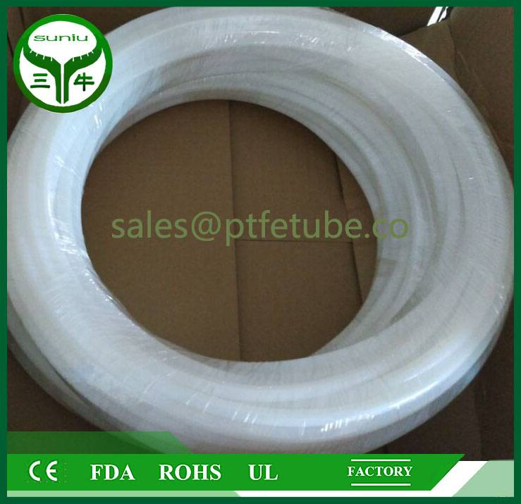 Good Quality Paste extruded Teflon tube for 2mm OD , ptfe convoluted tube pipe hose tube / suniu