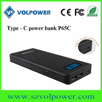 2017 highest attention 15600mah Portable type-c 3.0 fast charging quick power bank for phones