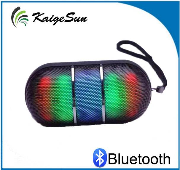 LED Light Bluetooth Pill Speaker Outdoor Portable Capsule Handsfree