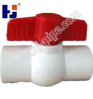 """'HJ"""" pvc simple ball valves with two wings handle for water gas oil co2"""