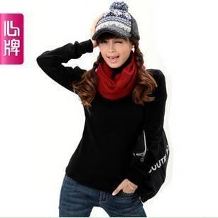 Bottoming shirt long sleeve   Autumn clothing Women Corea big size high collar Figuring T shirt Wome