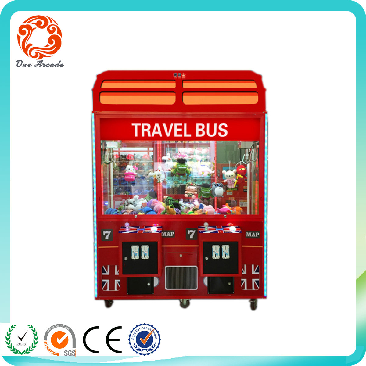 High Quality Big England Style Coin Operated Prize Game Machine