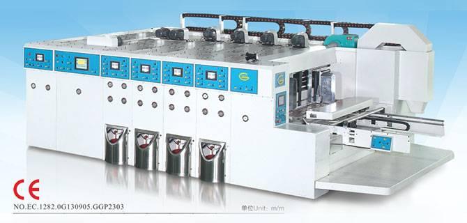 4 color caton flexo printing slotting machine