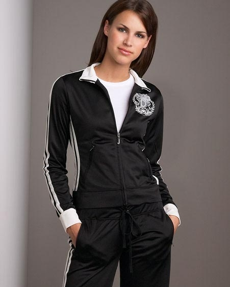 Juicy Couture Poly Track Jacket Suit