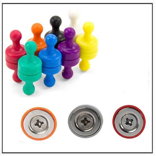 Plastic Magnetic Pushpin
