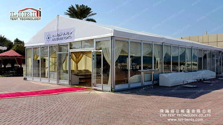 Hot Sale Large catering tent for wedding With Temper glass wall