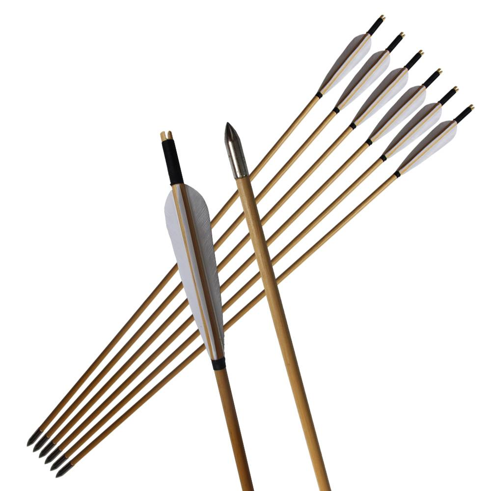 Long Bow Fishing Solid Fiberglass Arrows 8mm for Compound/Recurve Bow