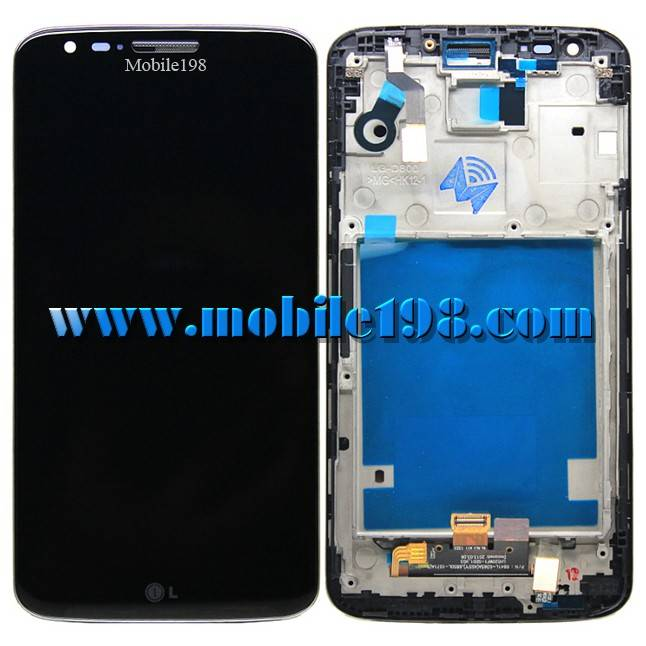 LCD Screen with Front Housing for LG G D802 Black China