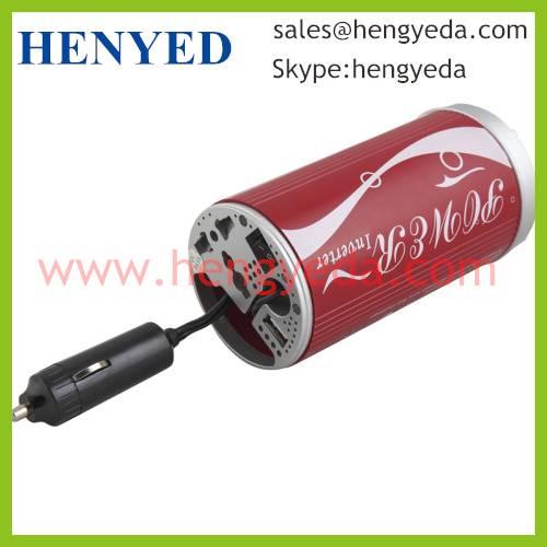 150W car power inverter with USB socket Coke shape(HYD-150CAN)