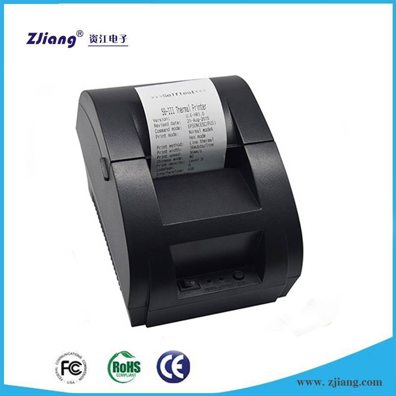 Mini supermarket 58mm thermal USB ticket receipt printer with free driver CD for small business 5890